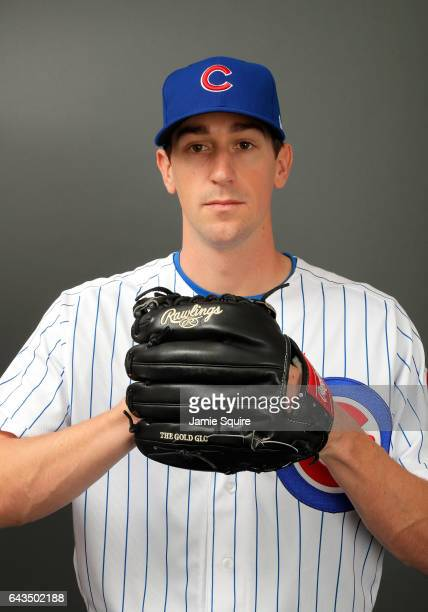 Kyle Hendricks of the Chicago Cubs poses during Chicago Cubs Photo Day on February 21 2017 in Mesa Arizona