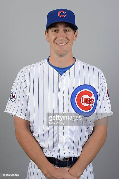Kyle Hendricks of the Chicago Cubs poses during Photo Day on Monday March 2 2015 at Sloan Park in Mesa Arizona