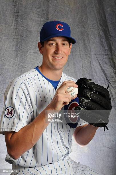 Kyle Hendricks of the Chicago Cubs poses for a portrait during Photo Day on March 2 2015 at Sloan Park in Mesa Arizona