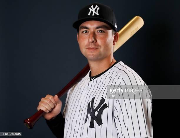 Kyle Higashioka of the New York Yankees poses for a portrait during the New York Yankees Photo Day on February 21 2019 at George M Steinbrenner Field...
