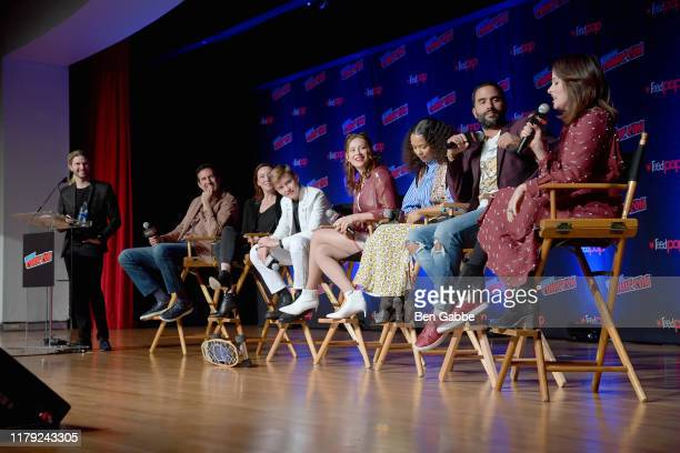Kyle Hill Zack Estrin Molly Parker Maxwell Jenkins Mina Sundwall Taylor Russell Ignacio Serricchio and Parker Posey onstage during the Netflix...