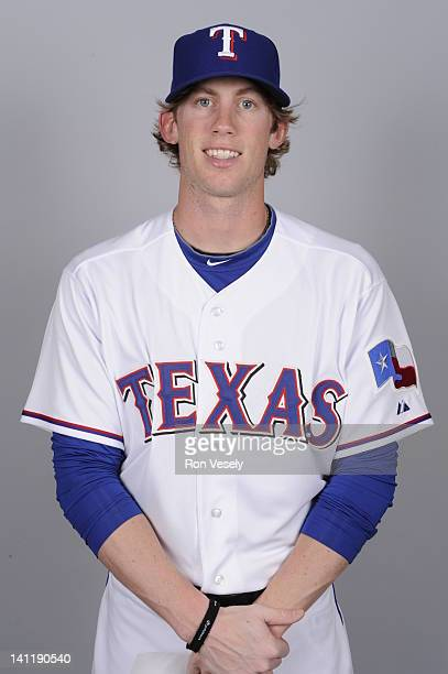 Kyle Hudson of the Texas Rangers poses during Photo Day on Tuesday February 28 2012 at Surprise Stadium in Surprise Arizona