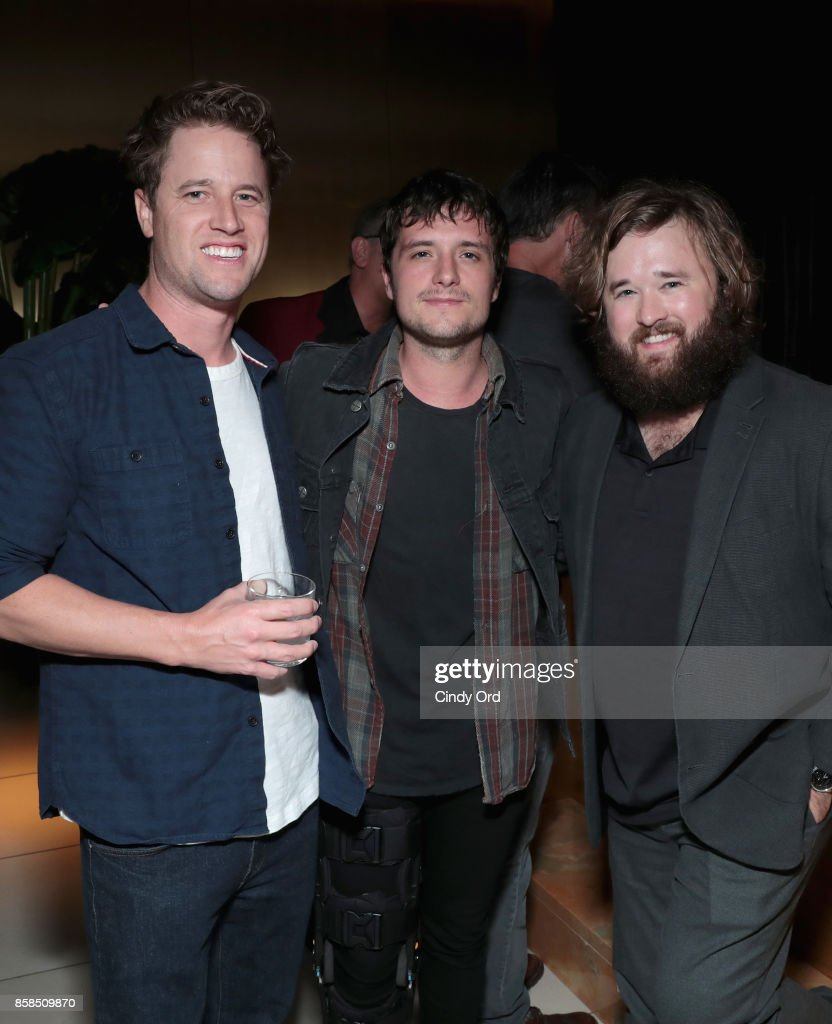 Kyle Hunter, Josh Hutcherson and Haley Joel Osment attend Hulu's New York Comic Con After Party at The Lobster Club on October 6, 2017 in New York City.