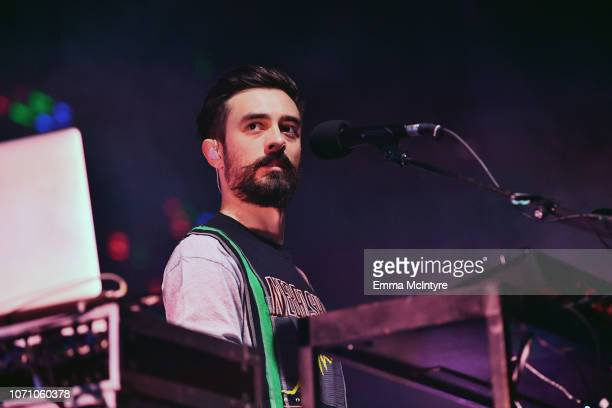 Kyle J Simmons of Bastille performs on stage during KROQ Absolut Almost Acoustic Christmas at The Forum on December 9 2018 in Inglewood California