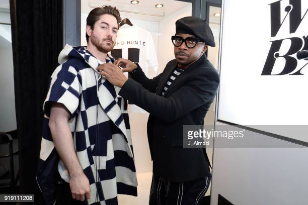 Kyle James and Romeo Hunte seen attending a popup event by New York based designer and artist Romeo Hunte at Wolfe Badger in Westbourne Grove on...