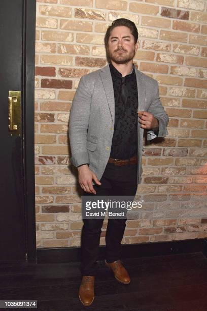 Kyle James attends the Edeline Lee X Glass Magazine party during London Fashion Week September 2018 at Kadie's Cocktail Bar Club on September 17 2018...
