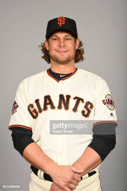 Kyle Jensen of the San Francisco Giants poses during Photo Day on Tuesday February 20 2018 at Scottsdale Stadium in Scottsdale Arizona