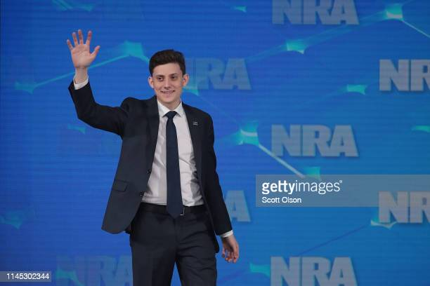 Kyle Kashuv, a Marjory Stoneman Douglas High School student speaks during the NRA-ILA Leadership Forum at the 148th NRA Annual Meetings & Exhibits on...