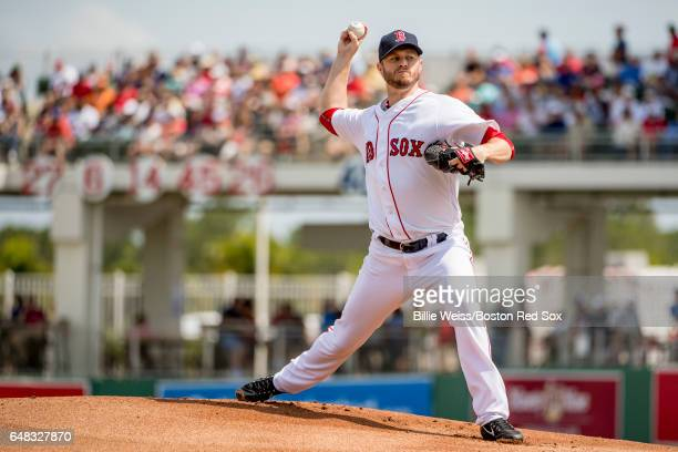 Kyle Kendrick of the Boston Red Sox delivers during the first inning of a Spring Training game against the Atlanta Braves on March 5 2017 at Fenway...