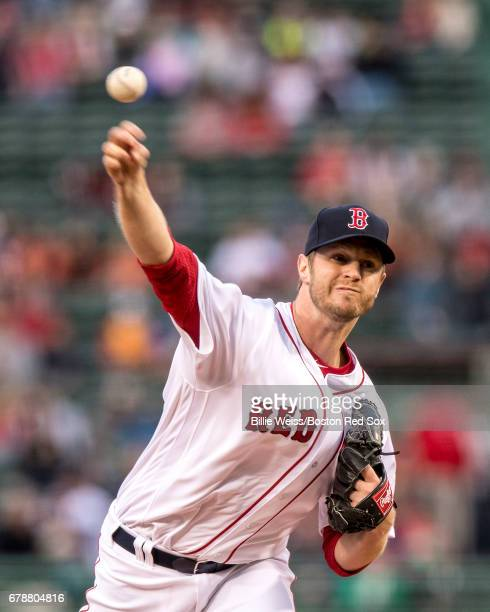 Kyle Kendrick of the Boston Red Sox delivers during the first inning of a game against the Baltimore Orioles on May 4 2017 at Fenway Park in Boston...