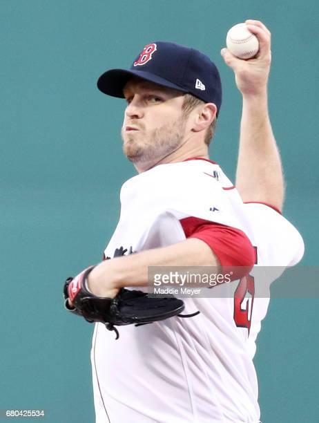 Kyle Kendrick of the Boston Red Sox pitches against the Baltimore Orioles during the first inning at Fenway Park on May 4 2017 in Boston Massachusetts