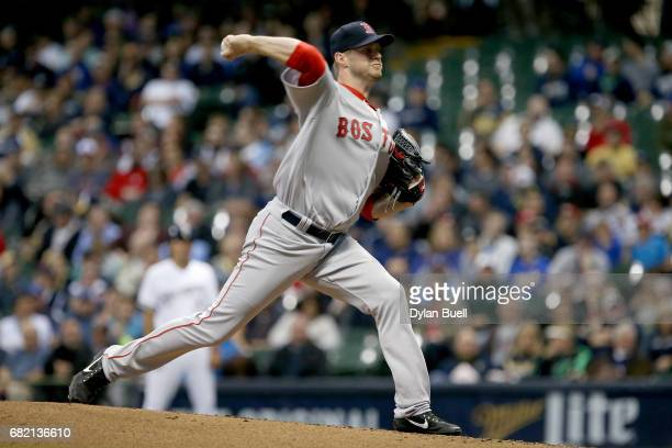 Kyle Kendrick of the Boston Red Sox pitches in the first inning against the Milwaukee Brewers at Miller Park on May 10 2017 in Milwaukee Wisconsin