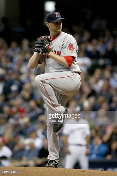 Kyle Kendrick of the Boston Red Sox pitches in the first inning against the Milwaukee Brewers at Miller Park on May 10, 2017 in Milwaukee, Wisconsin.