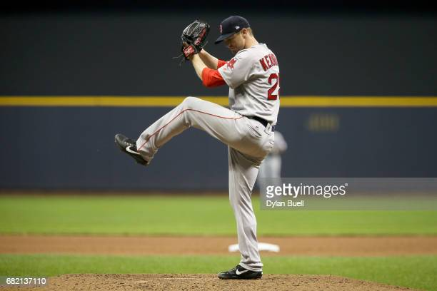 Kyle Kendrick of the Boston Red Sox pitches in the fourth inning against the Milwaukee Brewers at Miller Park on May 10, 2017 in Milwaukee, Wisconsin.