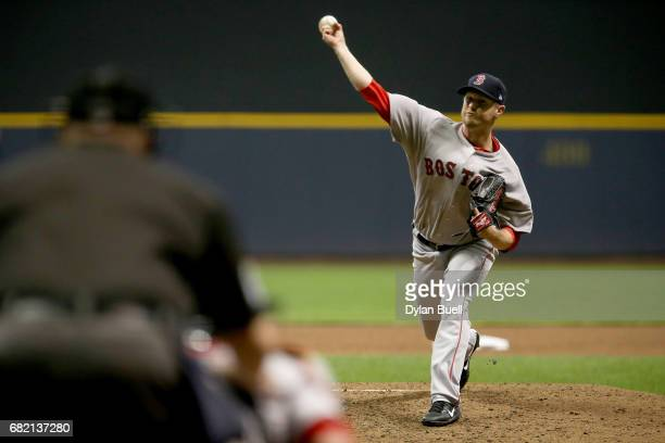 Kyle Kendrick of the Boston Red Sox pitches in the fourth inning against the Milwaukee Brewers at Miller Park on May 10 2017 in Milwaukee Wisconsin