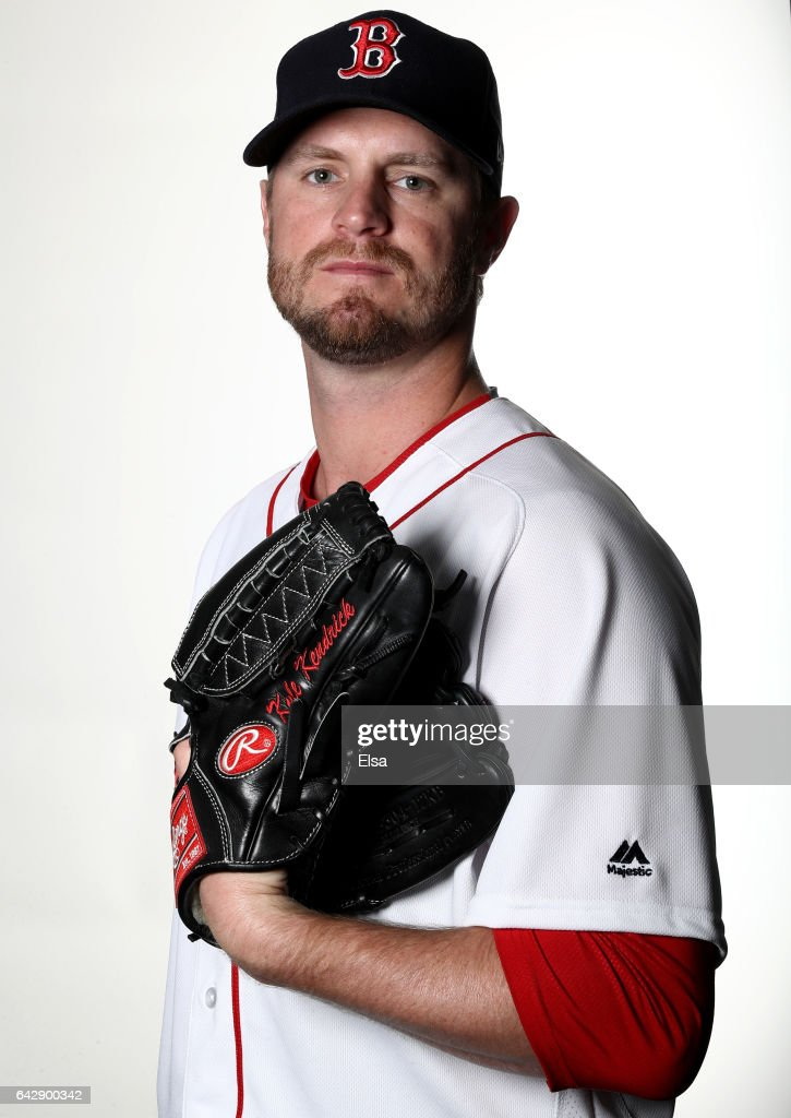 Kyle Kendrick #25 of the Boston Red Sox poses for a portrait during the Boston Red Sox photo day on February 19, 2017 at JetBlue Park in Ft. Myers, Florida.