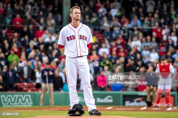 Kyle Kendrick of the Boston Red Sox takes the field before a game against the Baltimore Orioles on May 4 2017 at Fenway Park in Boston Massachusetts