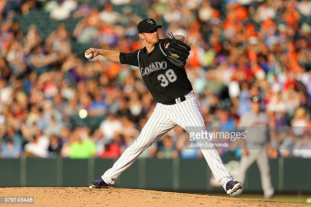 Kyle Kendrick of the Colorado Rockies pitches against the Houston Astros during Interleague play at Coors Field on June 17, 2015 in Denver, Colorado.