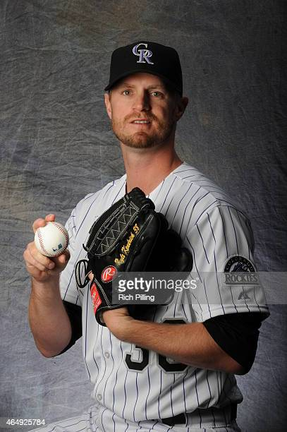 Kyle Kendrick of the Colorado Rockies poses for a portrait during Photo Day on March 1 2015 at Salt River Fields at Talking Stick in Scottsdale...