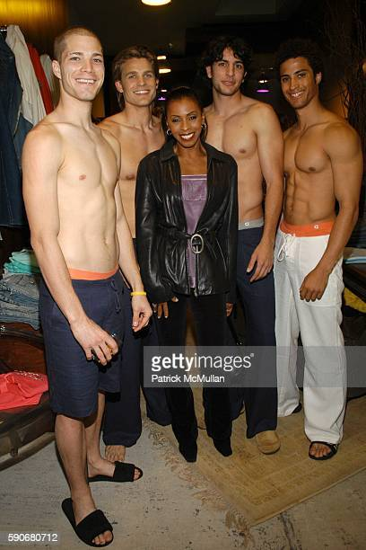 Kyle Khandi Alexander and Models attend Gran Centenario hosts the J Ransom instore event for adam eve at J Ransom Boutique on March 18 2005 in Los...
