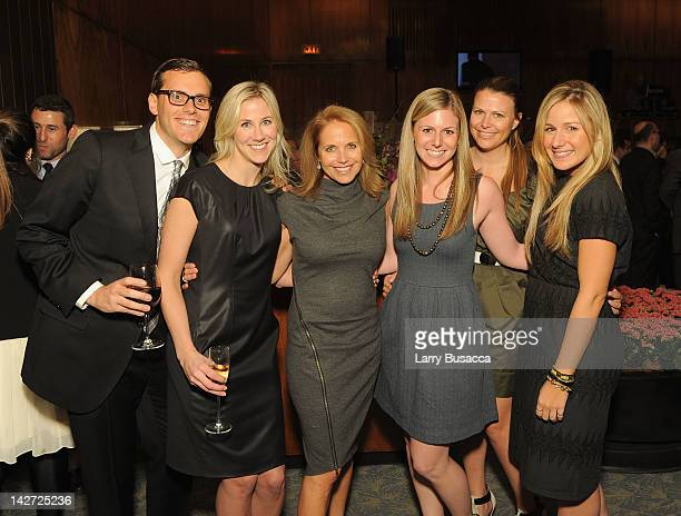 Kyle Konkoshi Tyler Moss Katie Couric Laura Lorenz Alex More and Jessica Bernstein attend the Hollywood Reporter celebration of The 35 Most Powerful...