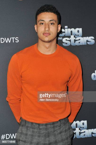 Kyle Kuzma arrives at ABC's 'Dancing With The Stars Athletes' Season 26 show on May 7 2018 in Los Angeles California