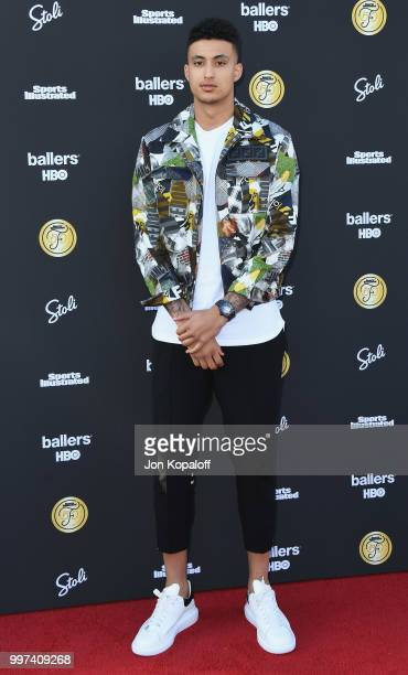 Kyle Kuzma attends Sports Illustrated Fashionable 50 at HYDE Sunset Kitchen Cocktails on July 12 2018 in West Hollywood California