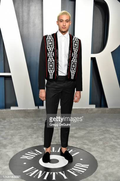 Kyle Kuzma attends the 2020 Vanity Fair Oscar Party hosted by Radhika Jones at Wallis Annenberg Center for the Performing Arts on February 09 2020 in...