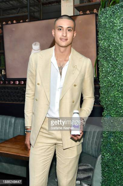 Kyle Kuzma attends the Barcode Pinot Noir Launch Party hosted by Kyle Kuzma at Catch LA on August 19, 2021 in West Hollywood, California.