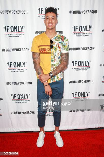 Kyle Kuzma attends the first annual If Only Texas hold'em charity poker tournament benefiting City of Hope at The Forum on July 29 2018 in Inglewood...