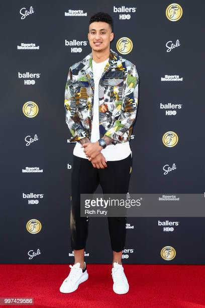 Kyle Kuzma attends the Sports Illustrated Fashionable 50 on July 12 2018 in West Hollywood California