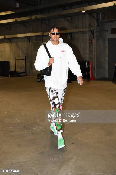 Kyle Kuzma of the Los Angeles Lakers arrives to the game against the Miami Heat on November 8 2019 at STAPLES Center in Los Angeles California NOTE...