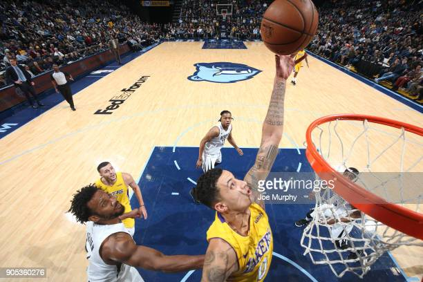 Kyle Kuzma of the Los Angeles Lakers dunks against the Los Angeles Lakers on January 15 2018 at FedExForum in Memphis Tennessee NOTE TO USER User...