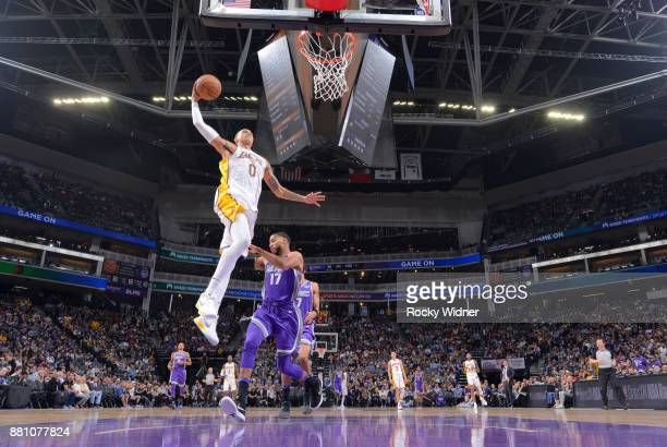 Kyle Kuzma of the Los Angeles Lakers dunks against the Sacramento Kings on November 22 2017 at Golden 1 Center in Sacramento California NOTE TO USER...