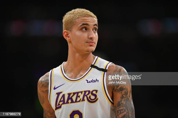 Kyle Kuzma of the Los Angeles Lakers during game against the Detroit Pistons at Staples Center on January 5 2020 in Los Angeles California Lakers won...