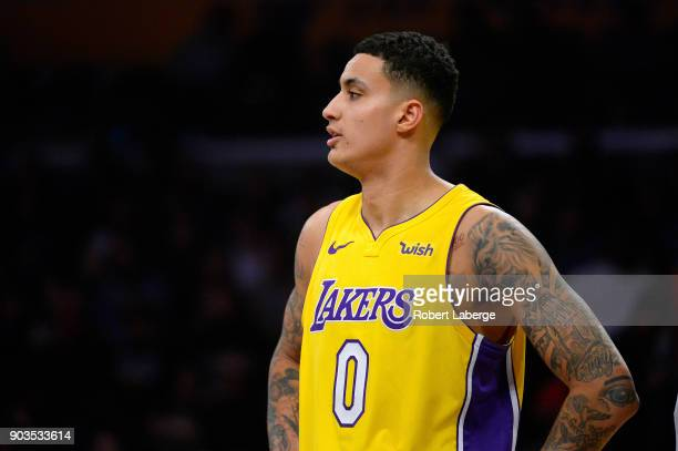 Kyle Kuzma of the Los Angeles Lakers during the game against the Los Angeles Clippers on December 29 2017 at STAPLES Center in Los Angeles California...