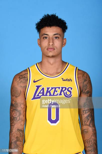 Kyle Kuzma of the Los Angeles Lakers poses for a head shot during media day on September 27 2019 at the UCLA Health Training Center in El Segundo...