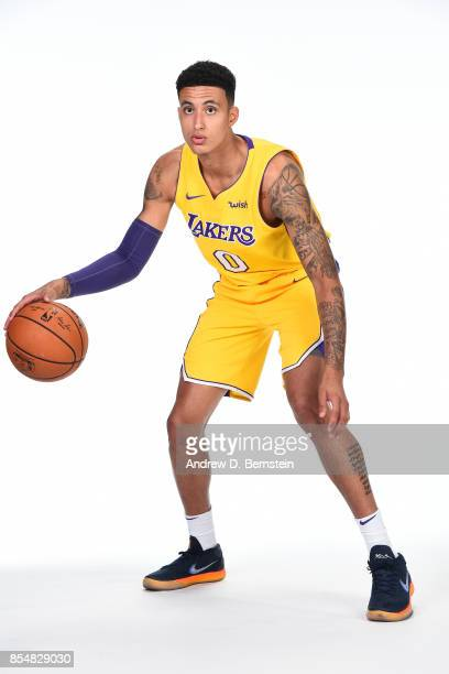 Kyle Kuzma of the Los Angeles Lakers poses for a portrait during media day at UCLA Health Training Center on September 25 2017 in El Segundo...