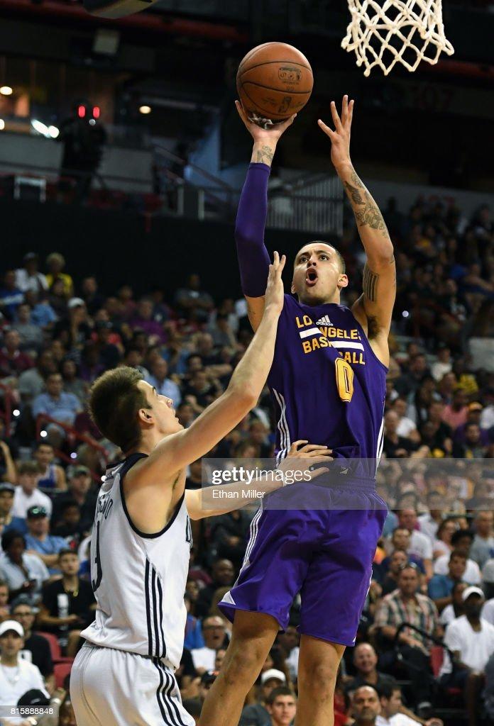 Kyle Kuzma Of The Los Angeles Lakers Shoots Against Nicolas
