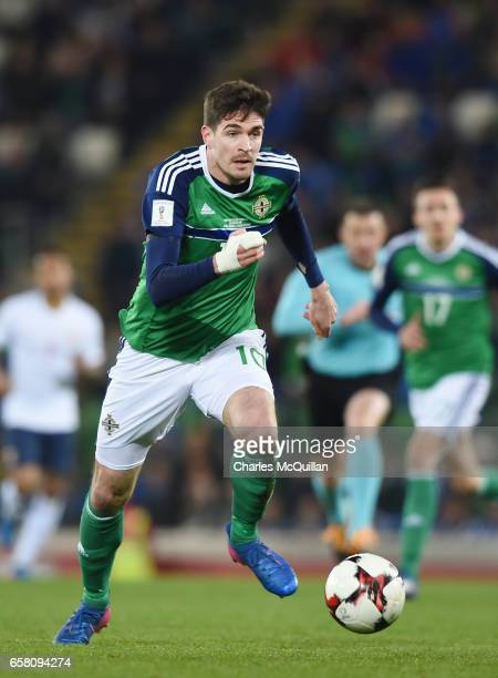 Kyle Lafferty of Northern Ireland during the FIFA 2018 World Cup Qualifier between Northern Ireland and Norway at Windsor Park on March 26 2017 in...