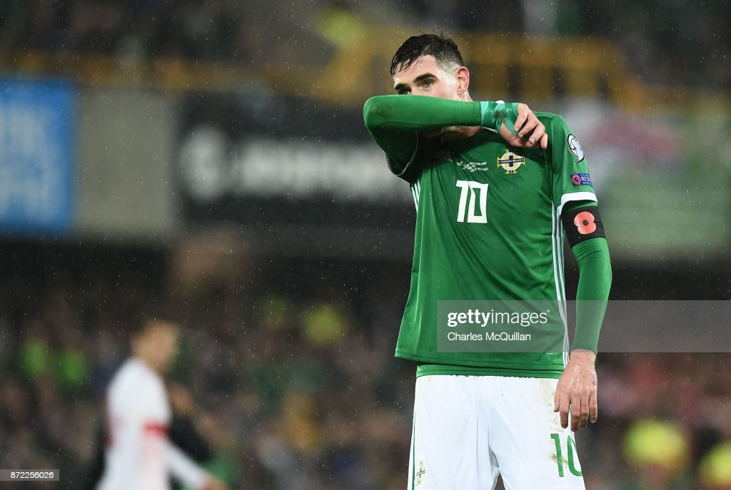 Northern Ireland v Switzerland - FIFA 2018 World Cup Qualifier Play-Off: First Leg : News Photo