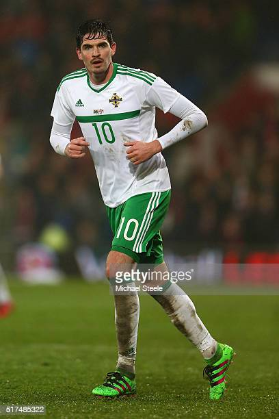 Kyle Lafferty of Northern Ireland during the International Friendly match between Wales and Northern Ireland at Cardiff City Stadium on March 24 2016...