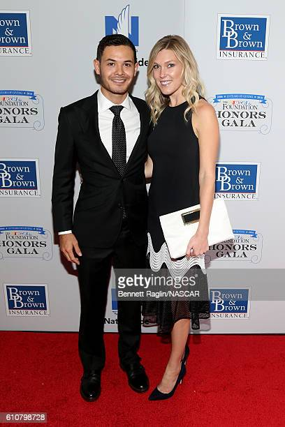 Kyle Larson and Katelyn Sweet attend First Annual NASCAR Foundation Honors Gala on September 27 2016 in New York City