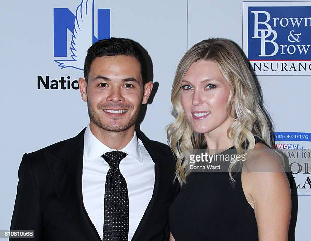 Kyle Larson and Katelyn Sweet attend the 2016 NASCAR Foundation Honors Gala at Marriot Marquis on September 27 2016 in New York City