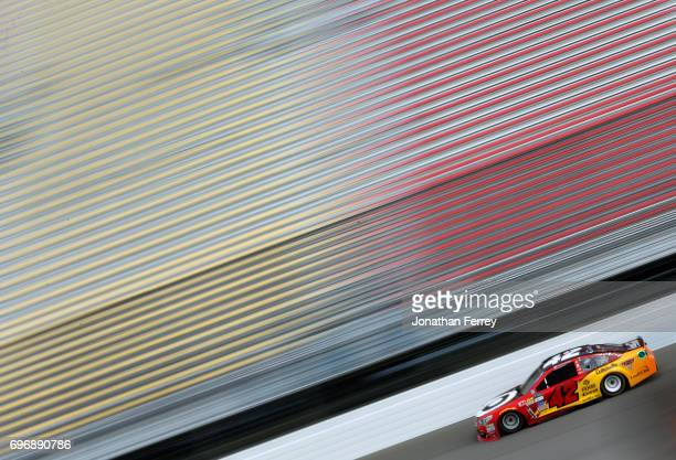 Kyle Larson driver of the Cars 3/Target Chevrolet practices for the Monster Energy NASCAR Cup Series FireKeepers Casino 400 at Michigan International...