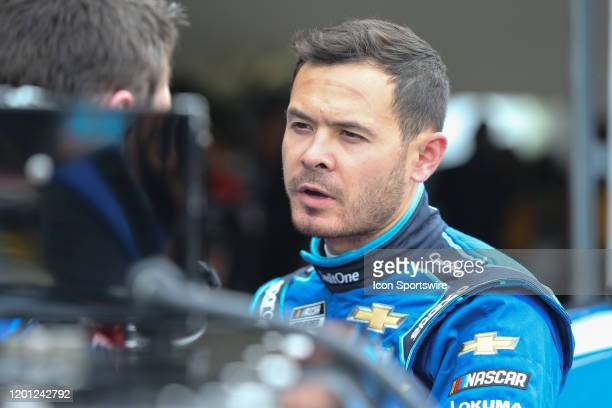 Kyle Larson driver of the Chip Ganassi Racing Credit One Bank Chevrolet Camaro during final practice for the Daytona 500 on February 15 2020 at...