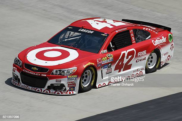 Kyle Larson driver of the Target Chevrolet practices for the NASCAR Sprint Cup Series Food City 500 at Bristol Motor Speedway on April 14 2016 in...