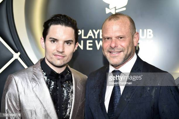 Kyle Lee and Joe Wagner arrive at Playboy Club New York Grand Opening on September 12 2018 in New York City