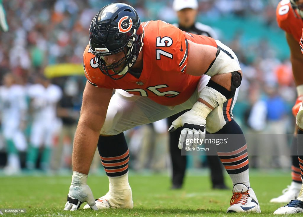 Kyle Long of the Chicago Bears in action against the Miami Dolphins ... 7df6d6252