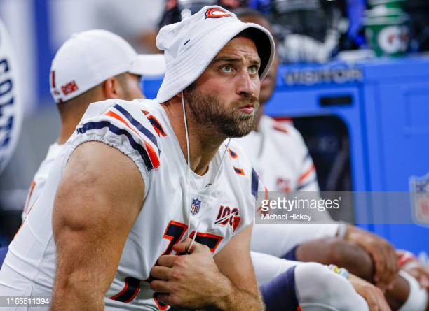 Kyle Long of the Chicago Bears is seen during the game against the Indianapolis Colts at Lucas Oil Stadium on August 24 2019 in Indianapolis Indiana